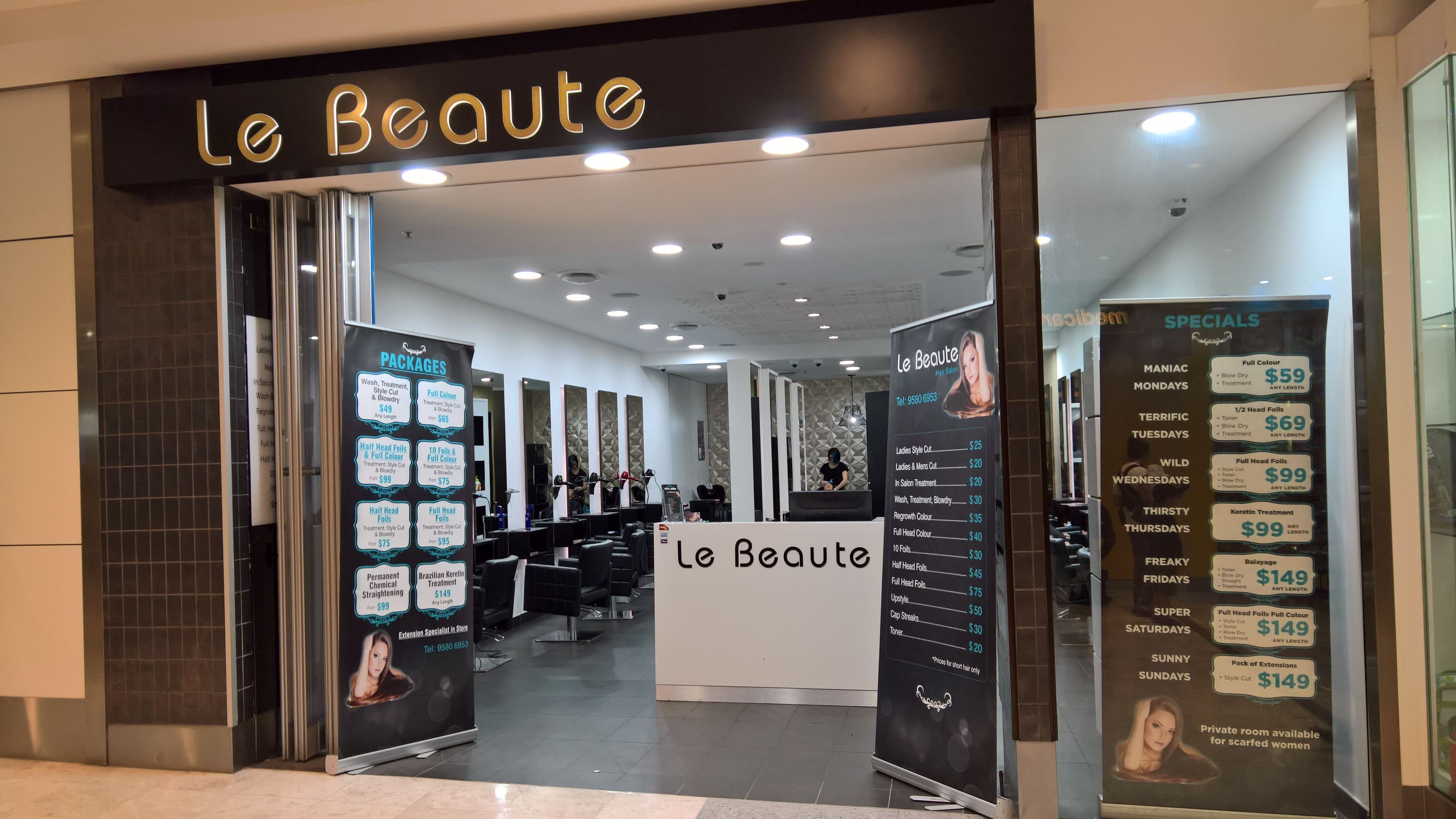 Le Beaute Hurstville Hair Extensions Hairdresser
